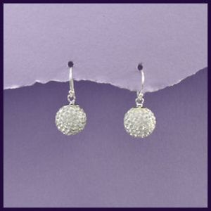 Sterling Silver and Swarovski Crystal 12mm Earrings (1)